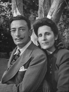 """I love Gala better than my mother, better than my father, better than Picasso, and even better than money."" - Salvador Dali -Gala Eluard - Dali's companion & wife of 53 years . Virtually inseparable #Дали By : John Barous 2015 © Docent, The Salvador Dali Museum, Saint Petersburg, FL. (1996-2011)"