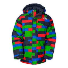 North Face Insulated Blaeke Boys Jacket Fiery Red Print XXS ** Want to know more, click on the image.(This is an Amazon affiliate link and I receive a commission for the sales)