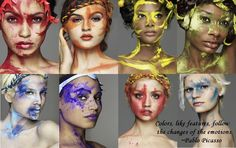 """Colours, like features, follow the changes of the emotions."" ~ Picasso, Cycle 12 #ANTM"