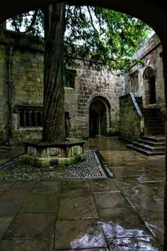 Rain at Skipton Castle, Yorkshire, England. Yorkshire England, Yorkshire Dales, West Yorkshire, Skipton Yorkshire, Cornwall England, Dark Castle, English Countryside, London England, Oxford England