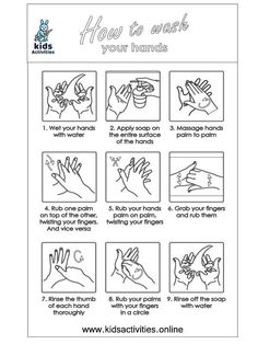 Free ! wash your hands coloring pages ⋆ Kids Activities Free Printable Worksheets, Free Printable Coloring Pages, Doodle Coloring, Hand Coloring, Cool Coloring Pages, Coloring Books, Hand Washing Poster, Kids Hands, Teaching Kids