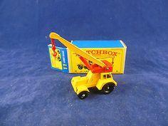 Matchbox Series By Lesney No 11 Yellow Taylor Jumbo Crane, Red Crane Weight MIB - http://www.matchbox-lesney.com/48212