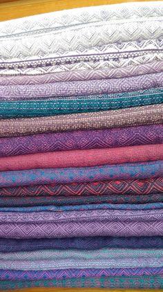 Purple Indios from Natalie Cross: Unknown (indigo or lavender?), Unknown (mauve?), Black Tag Violet/White, Crystal (linen), Lavanda (linen/cotton/hemp), Sole, Purple Alpaka, Violet OS, Pure, Kobalt-Rouge (linen), Deep Blue Dark Red (hemp), Orient v2 (linen), Orient v1 (linen), Lila-Royal (linen), Blackberry (wool), Mystic (hemp), Holunder-Acqua (linen), Lila-Azzurro (linen), Cornflower cotton, Acqua-Zyclame (hemp)