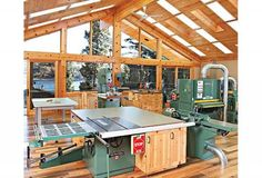 From the outside, Mike Walker's workshop looks like a well-appointed lakeside retreat . It looks like that on the inside too—except for all the woodworking tools.