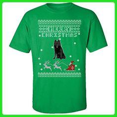 Schipperke Dogs Ugly Christmas Sweater - Adult Shirt 5xl Irish-green - Holiday and seasonal shirts (*Amazon Partner-Link)