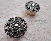 "3/4"" Organic Wooden Silver Renaissance Button Plugs"