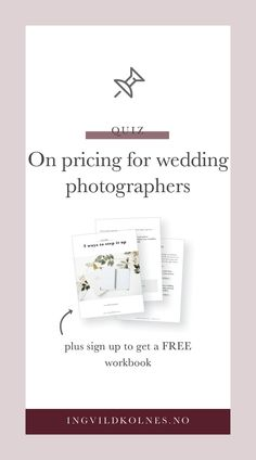 Want to know how to make more money from wedding photography? Try this fun quiz and figure out how you're doing and what steps you can take to do better in your business. Wedding Photographer Prices, Wedding Photography Pricing, Photography Business, Get Educated, Quiz, Photography Website, Make More Money, Business Tips, Making Ideas