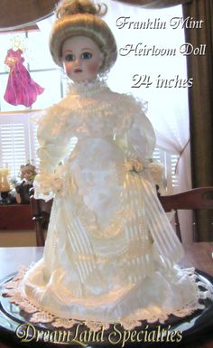 Vintage Franklin Mint Heirloom Doll in the Gibson by DLSpecialties, $50.00