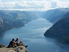View from Pulpit Rock, Norway