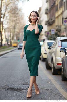 classically stunning. Ulyana in Milan. #UlyanaSergeenko
