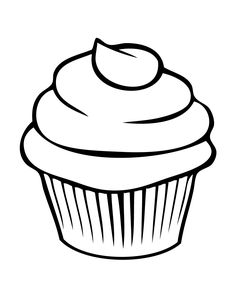Pretty Cupcake Coloring Page | Free Printable Coloring Pages
