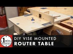Vise Mounted Router Table - YouTube Making A Router Table, Diy Router Table, Woodworking Jigs, Woodworking Projects, Power Tool Storage, Guitar Diy, Wood Turning Projects, Wood Projects, Garage Organization