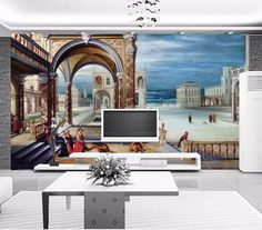 Mural Wall paper 8d European architecture  Price: 76.80 & FREE Shipping  #Health #Beauty #Electronics #Kids #Toys #Sports #Fitness #Survival