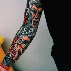 Sleeve By Brisbane Tattoo Artist @HaydenOconnor (x-post /r/tattoosofinstagram)