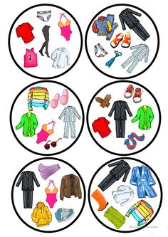 Clothes dobble game - English ESL Worksheets for distance learning and physical classrooms English Activities, Vocabulary Activities, Preschool Worksheets, Printable Worksheets, French Lessons, English Lessons, Spanish Lessons, Teaching French, Teaching English