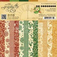 Graphic 45 Paper Pack 15X15 - St. Nicholas Print & Solid