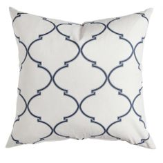 Caitlin Wilson Textiles: Navy Souk Trellis Pillow