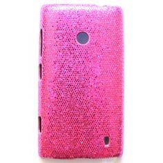 Lumia 520 hot pink glitter suojakuori. Nokia Lumia 520, Pink Glitter, Hot Pink, Phone Cases