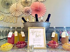 Mimosa bridal shower | CatchMyParty.com