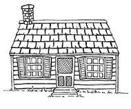 Stacey Yacula Studio - Cottage             Purple Onion Designs stamps                 $5.50