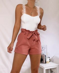 Cute Casual Outfits, Cute Summer Outfits, Outfits For Teens, Chic Outfits, Fashion Outfits, Casual Clothes, Fashion Trends, Vintage Street Fashion, Looks Style