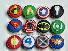 avengers cupcakes | Superhero cupcakes | Flickr - Photo Sharing!