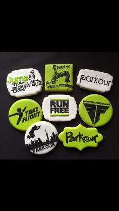 Parkour Logo Cookies #parkour #freerunning Go Check out my FB Page for info…
