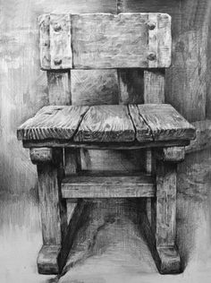 A by on DeviantArt Wood dessin drawing デッサン イス 木 Still Life Sketch, Still Life Drawing, Charcoal Art, Charcoal Drawing, Pencil Art Drawings, Art Drawings Sketches, Chair Drawing, Painting & Drawing, Object Drawing