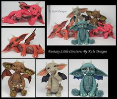 Handmade Polymer Clay Fantasy Dragons by KabiDesigns