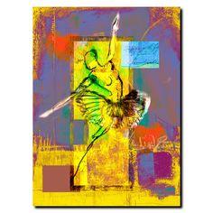 "Ballerina by Miguel Paredes, Canvas Art - 32"" x 24"""