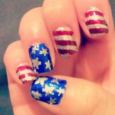 Ready for the #4thofjuly :P #nailart #nailcompetitions13 - @miss0erika- #webstagram