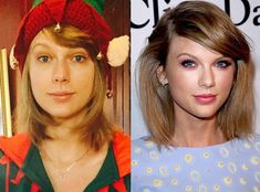 Taylor Swift from Stars Without Makeup  The singer opted for a fresh-faced look on Christmas Eve 2015.