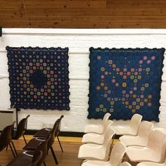 It's dark now so the lights a bit iffy  #unravel #farnhammaltings #crochetblanket #crochet #crocheting #crocheted #crochetblanket by queenieamanda2