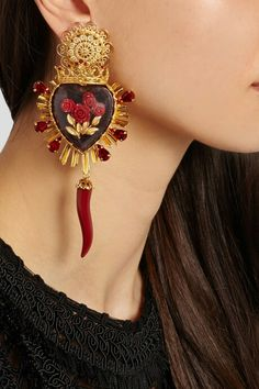 Dolce and gabbana _ sacred heart earrings                                                                                                                                                                                 More
