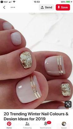 Best ideas for manicure pedicure designs simple Pedicure Nail Art, Pedicure Colors, Nail Colors, Pedicure Ideas, Nail Ideas, French Pedicure Designs, Pretty Nail Designs, Toe Nail Designs, Art Designs