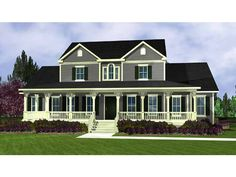 Country Style 2 story 4 bedrooms(s) House Plan with 3095 total square feet and 3 Full Bathroom(s) from Dream Home Source House Plans