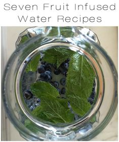 seven fruit infused water recipes