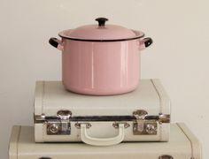 Vintage Pink Enamelware Stock