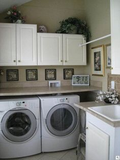 I Like The Countertops Over Washer Dryer Small Laundry Rooms Room