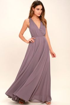25254c78e106 Dance the Night Away Dusty Purple Backless Maxi Dress One Shoulder, Evening  Dresses, Evening