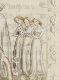 Distaff, spindle, niddy-noddy and swift. The fates are well equipped. BnF Fr 373 http://gallica.bnf.fr/ark:/12148/btv1b8490152m/f213.image