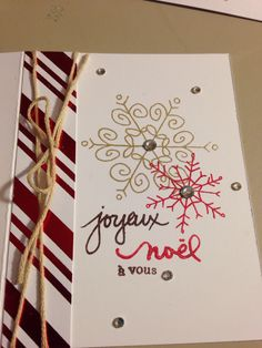 Flocons stampin up