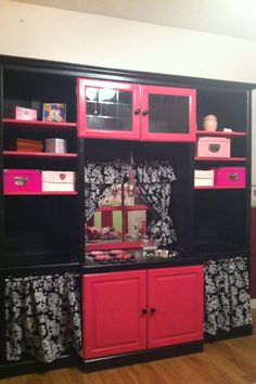 Kitchen set from entertainment center...Such a good Idea, there are ...