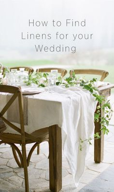 How to find linens for your wedding if you would like to DIY your wedding decor. #weddingdecoranddetails #diyweddingtutorials #weddingcenterpieces #vintageweddings