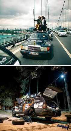 """Six friends, three Mercedes-Benz W 124 models and a big adventure: the members of """"The Madcaps"""" experience the trip of a lifetime on the Allgäu-Orient Rally."""