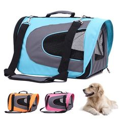 Portable Pet Dog Cat Oxford Cloth Soft Sided Carrier Tote Bag for Travel