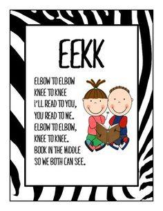 Zebra Theme Daily 5 EEKK Poster (Style A)...