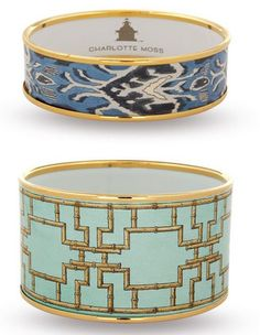 Charlotte Moss blue bangles...very pretty