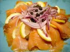 Smoked salmon goes very well with lakes. With lemon, red onion & salted capers.     Like It!