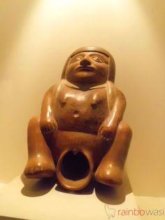 Peruvian pre-Columbian Moche Pottery   Larco Museum, Peru.